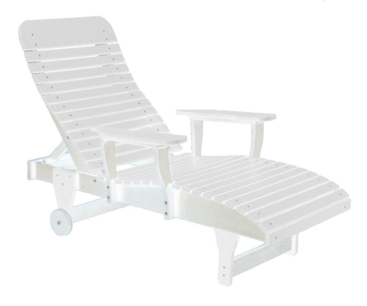White Andaman Outdoor Chaise Lounge