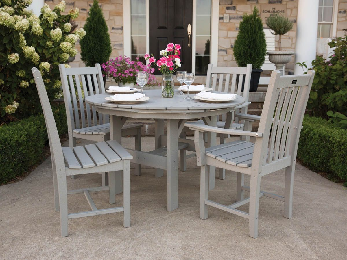 Aniva Chairs and Odessa Outdoor Dining Table
