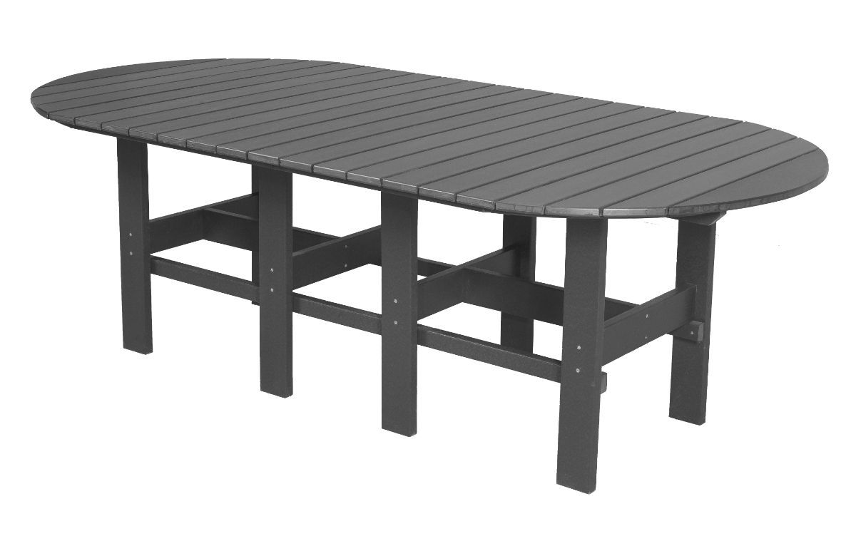 Dark Gray Aniva Outdoor Dining Table