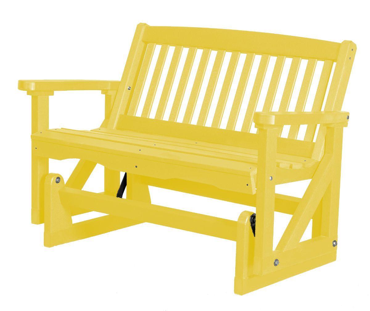 Lemon Yellow Aniva Outdoor Double Glider