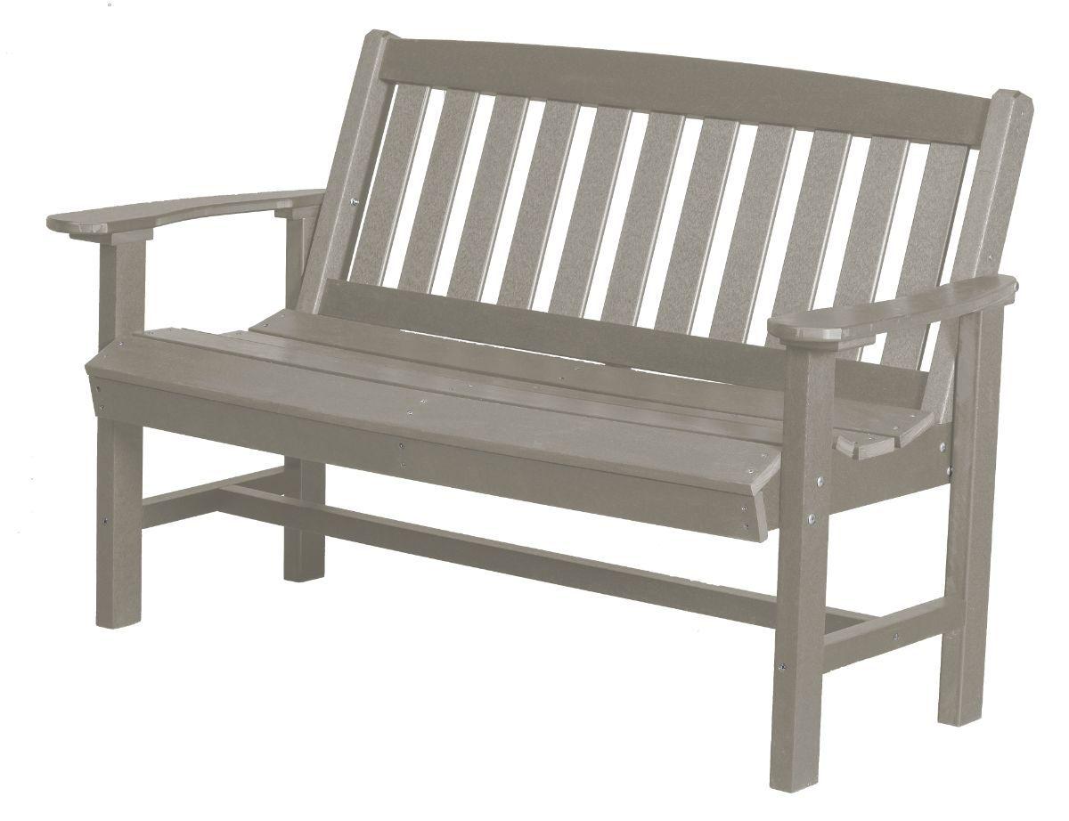 Light Gray Aniva Patio Bench