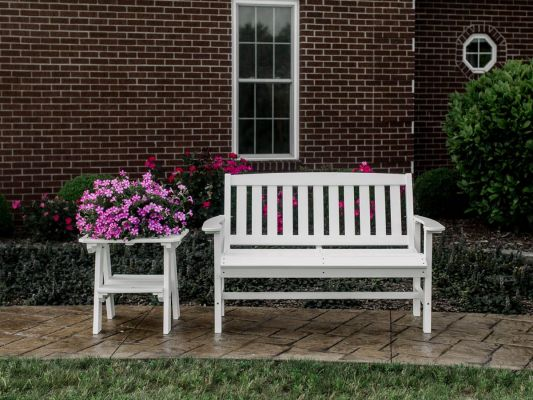 Aniva Bench and Odessa Outdoor End Table