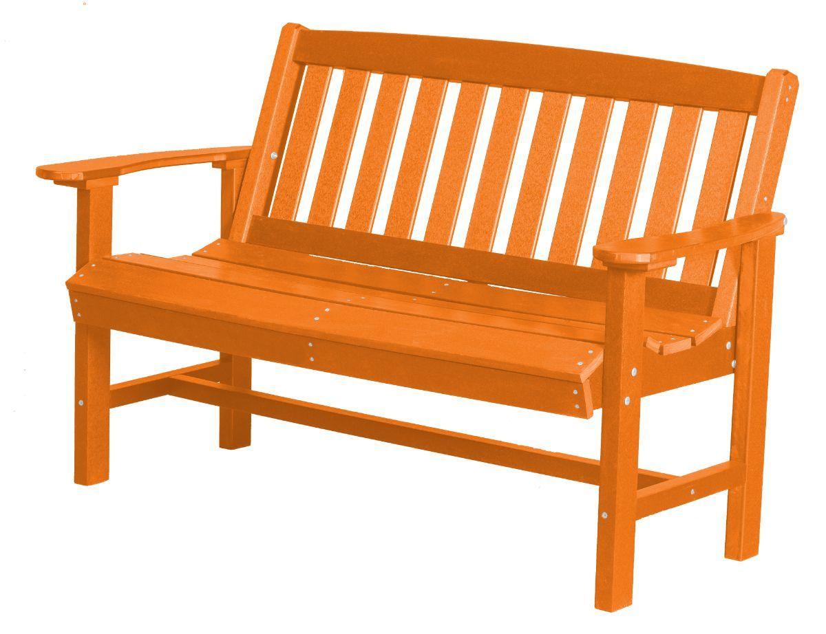 Orange Aniva Patio Bench