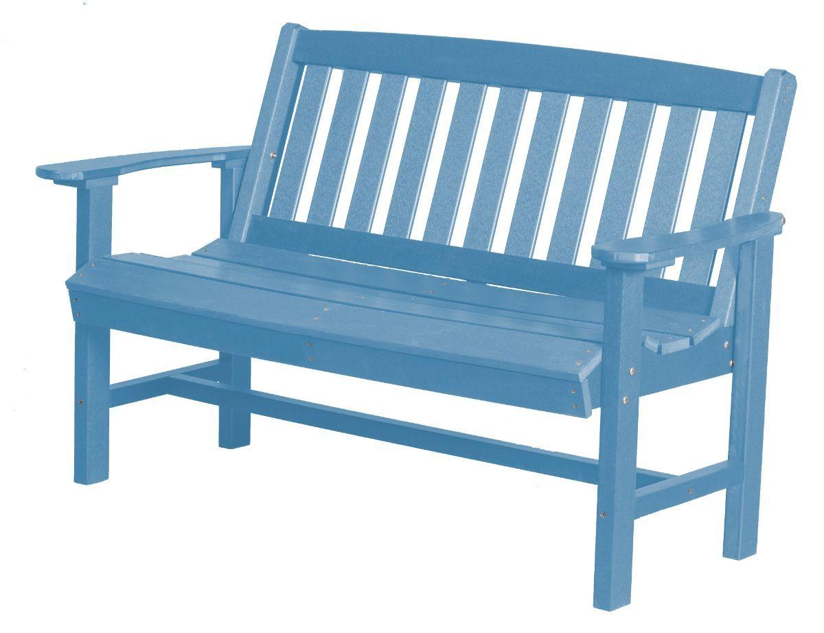 Powder Blue Aniva Patio Bench