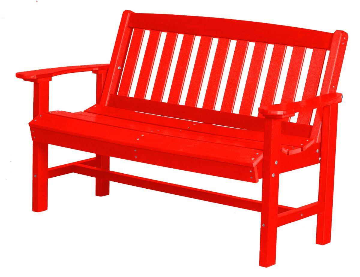 Bright Red Aniva Patio Bench