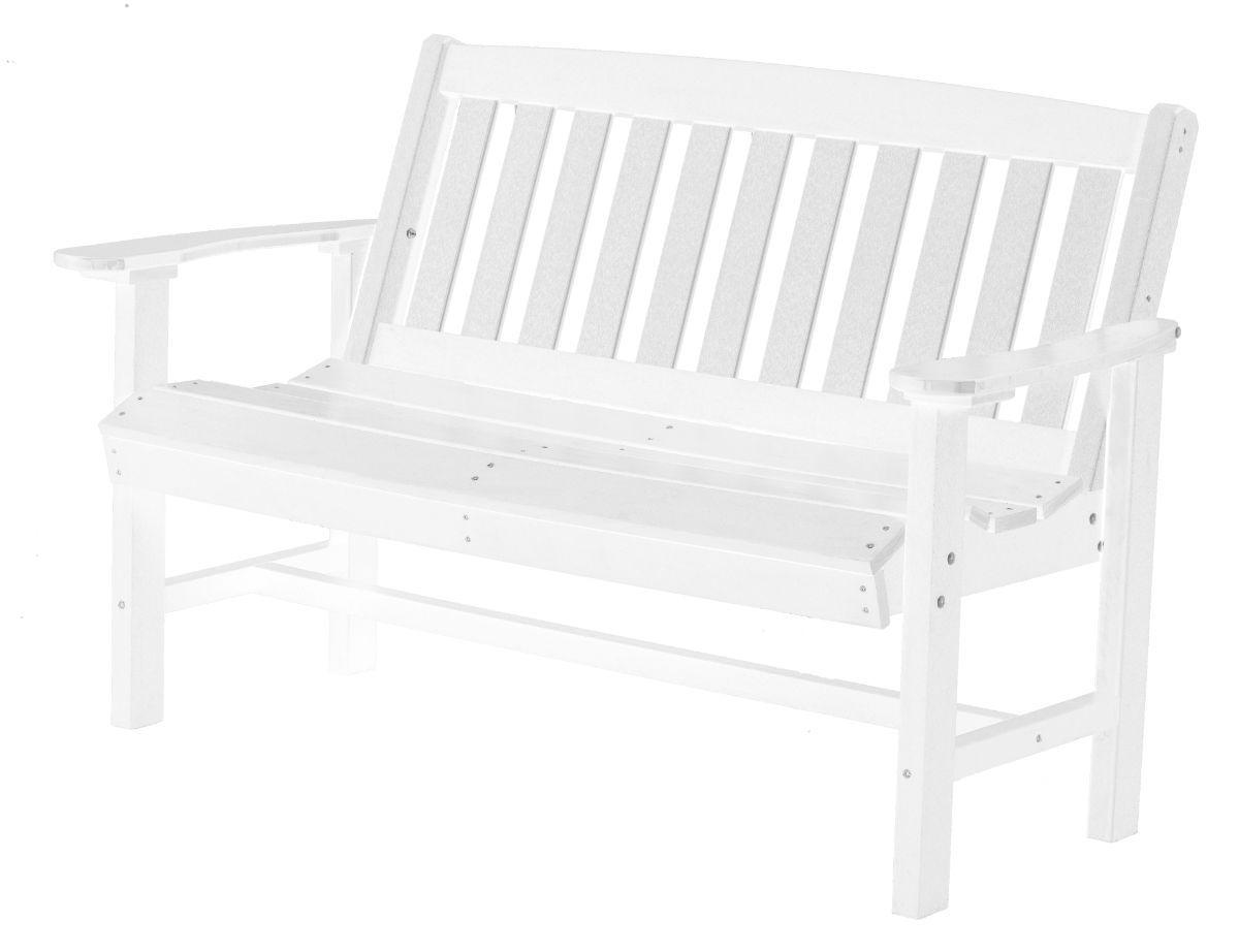 White Aniva Patio Bench
