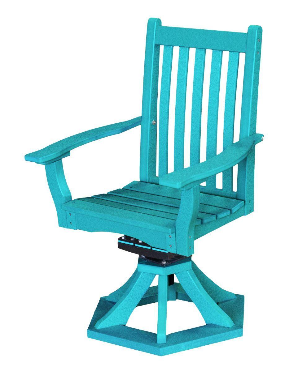 Aruba Blue Aniva Swivel Rocker Chair