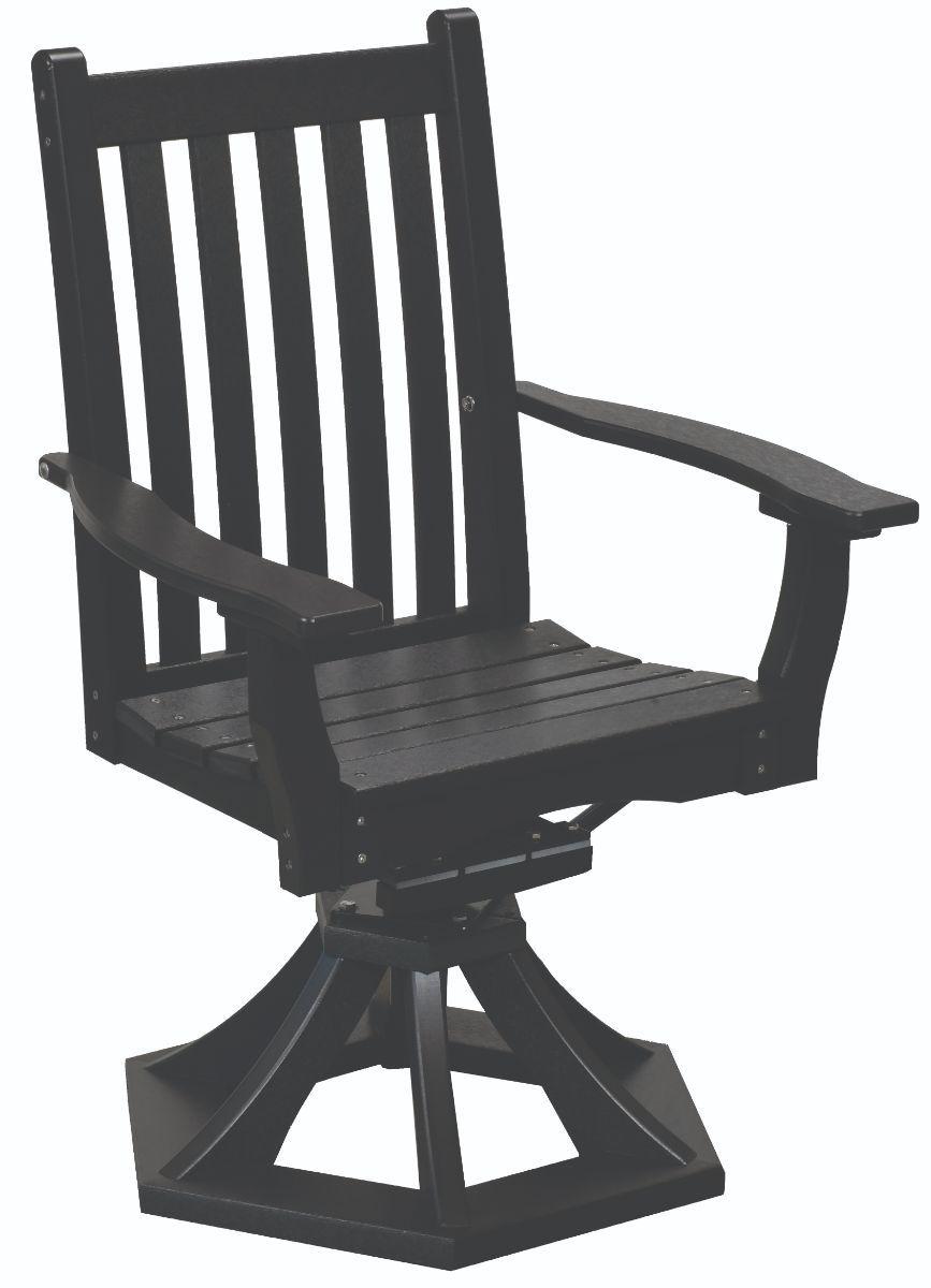 Black Aniva Swivel Rocker Chair