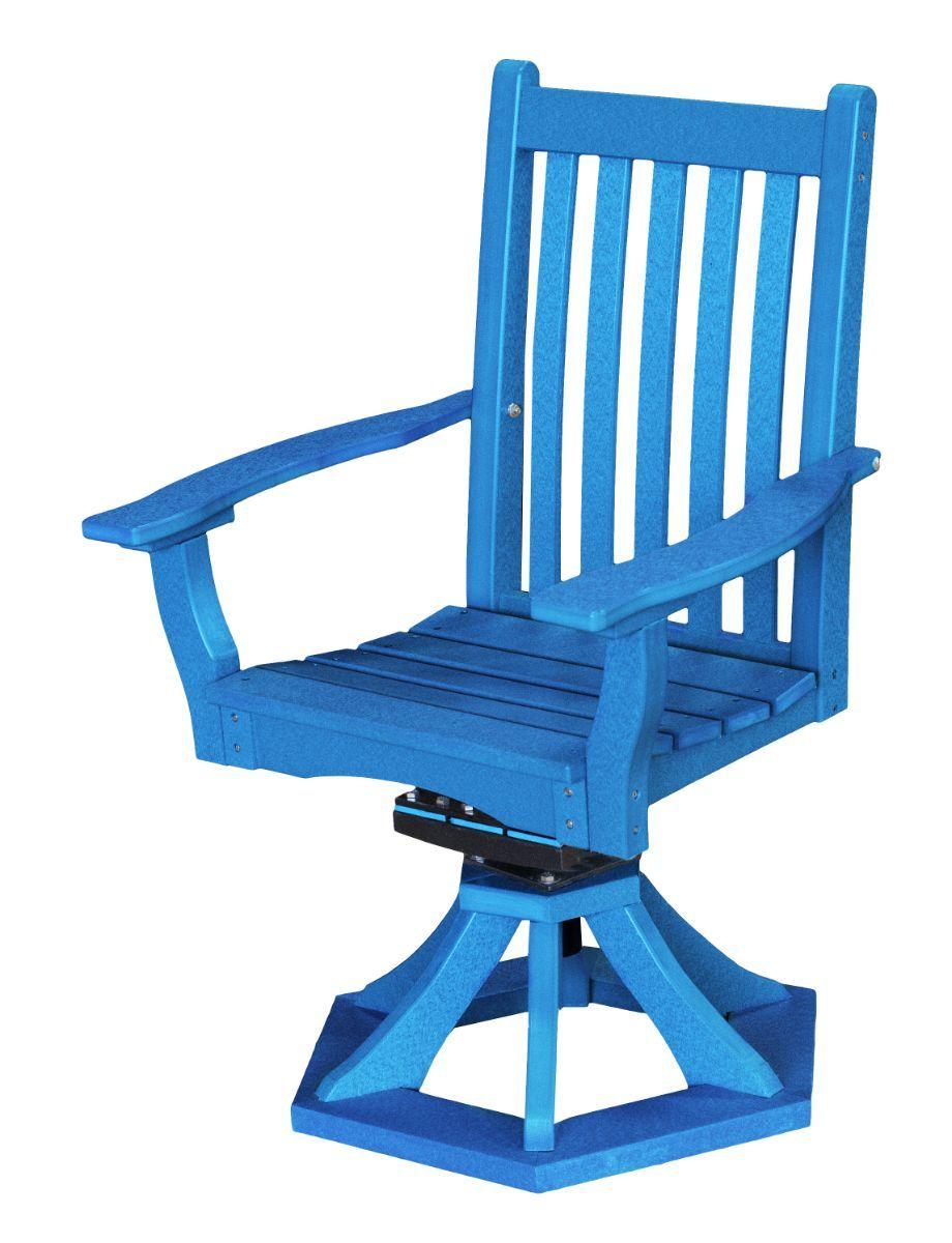 Blue Aniva Swivel Rocker Chair