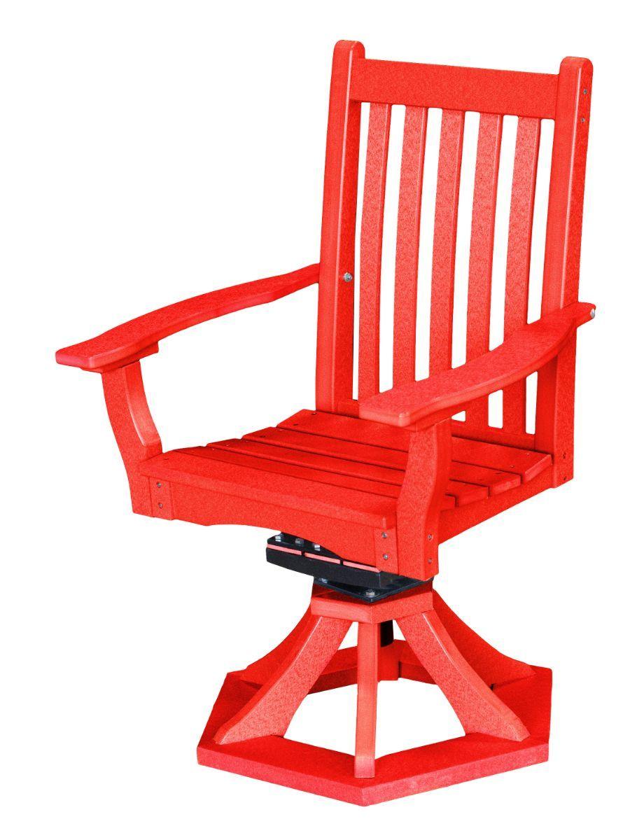 Bright Red Aniva Swivel Rocker Chair