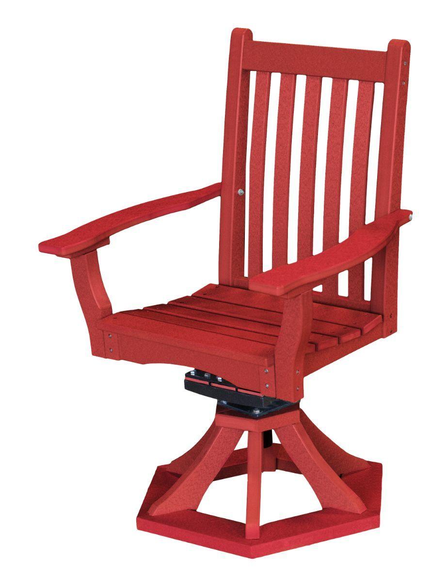 Cardinal Red Aniva Swivel Rocker Chair