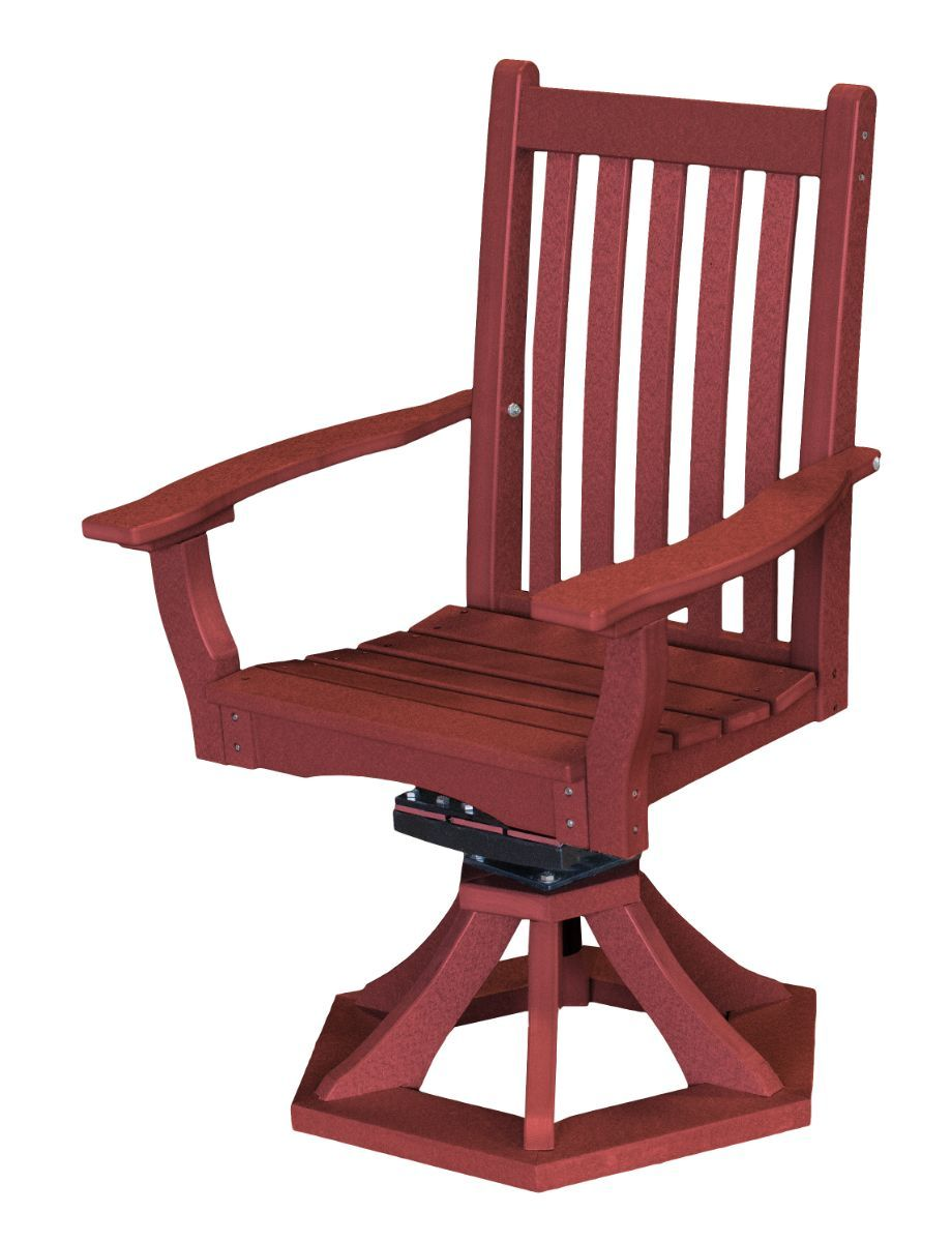 Cherry Wood Aniva Swivel Rocker Chair