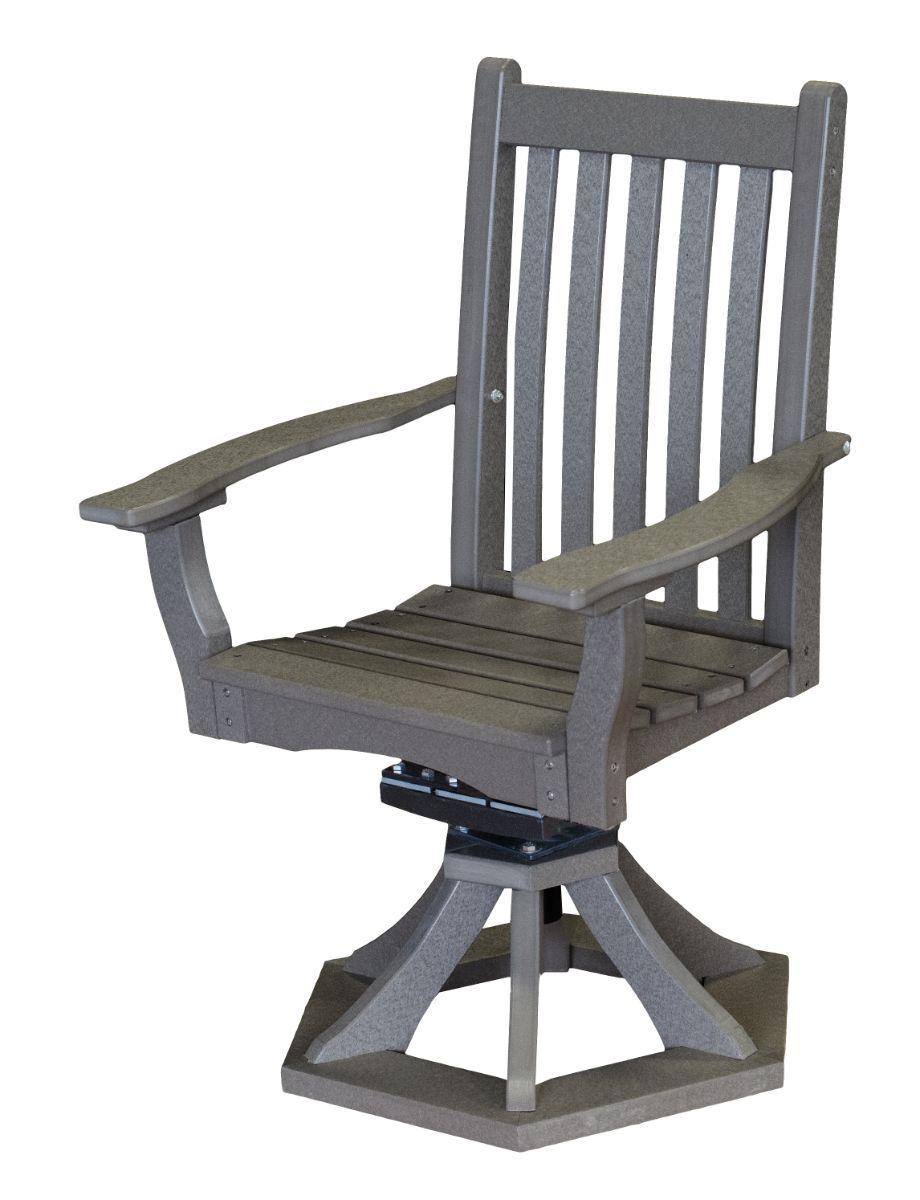 Dark Gray Aniva Swivel Rocker Chair