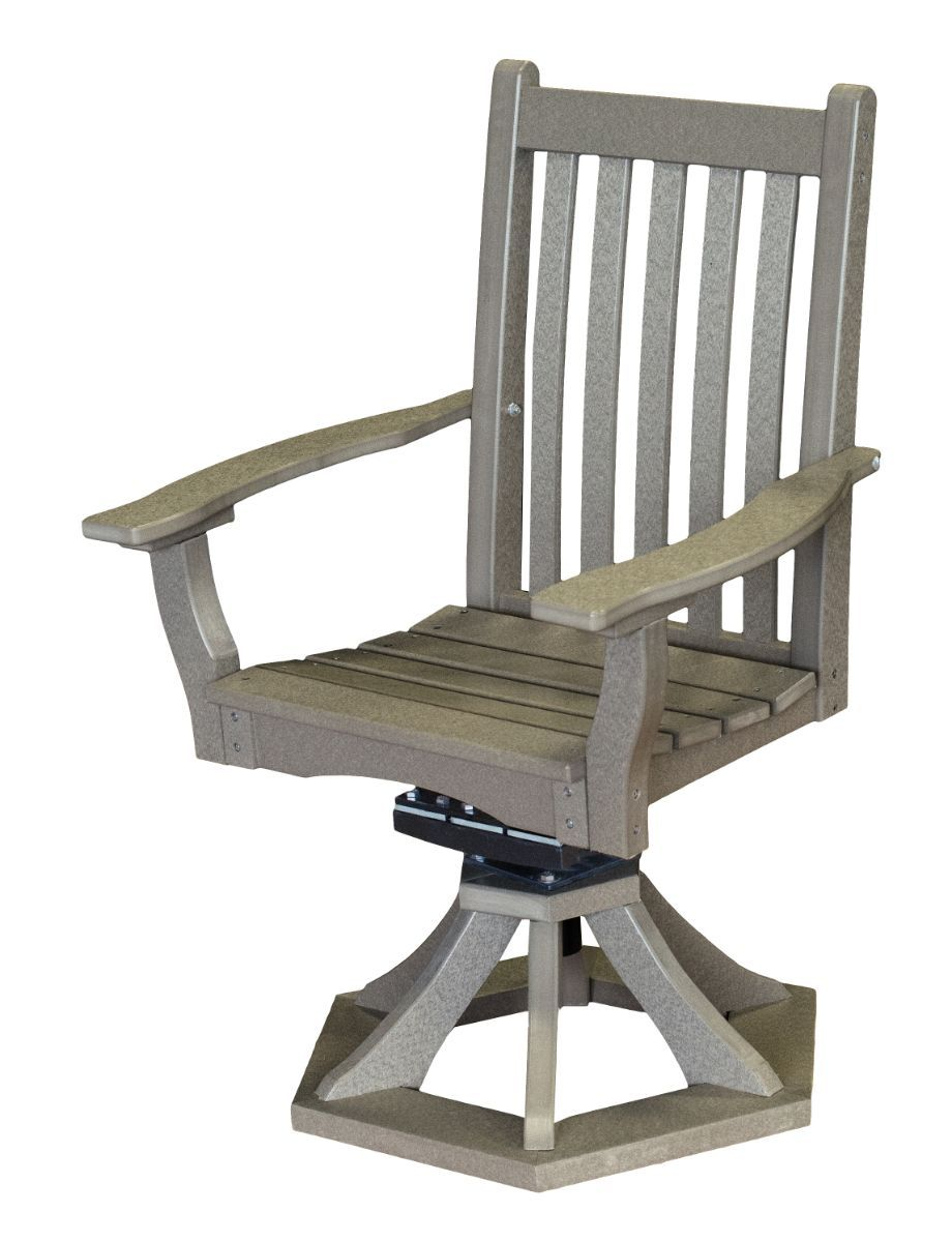 Light Gray Aniva Swivel Rocker Chair