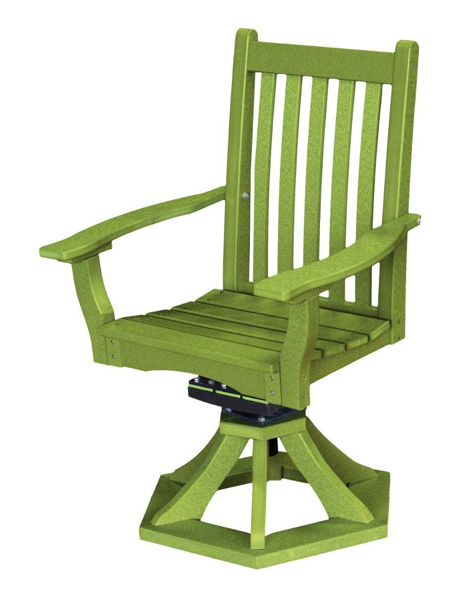 Lime Green Aniva Swivel Rocker Chair