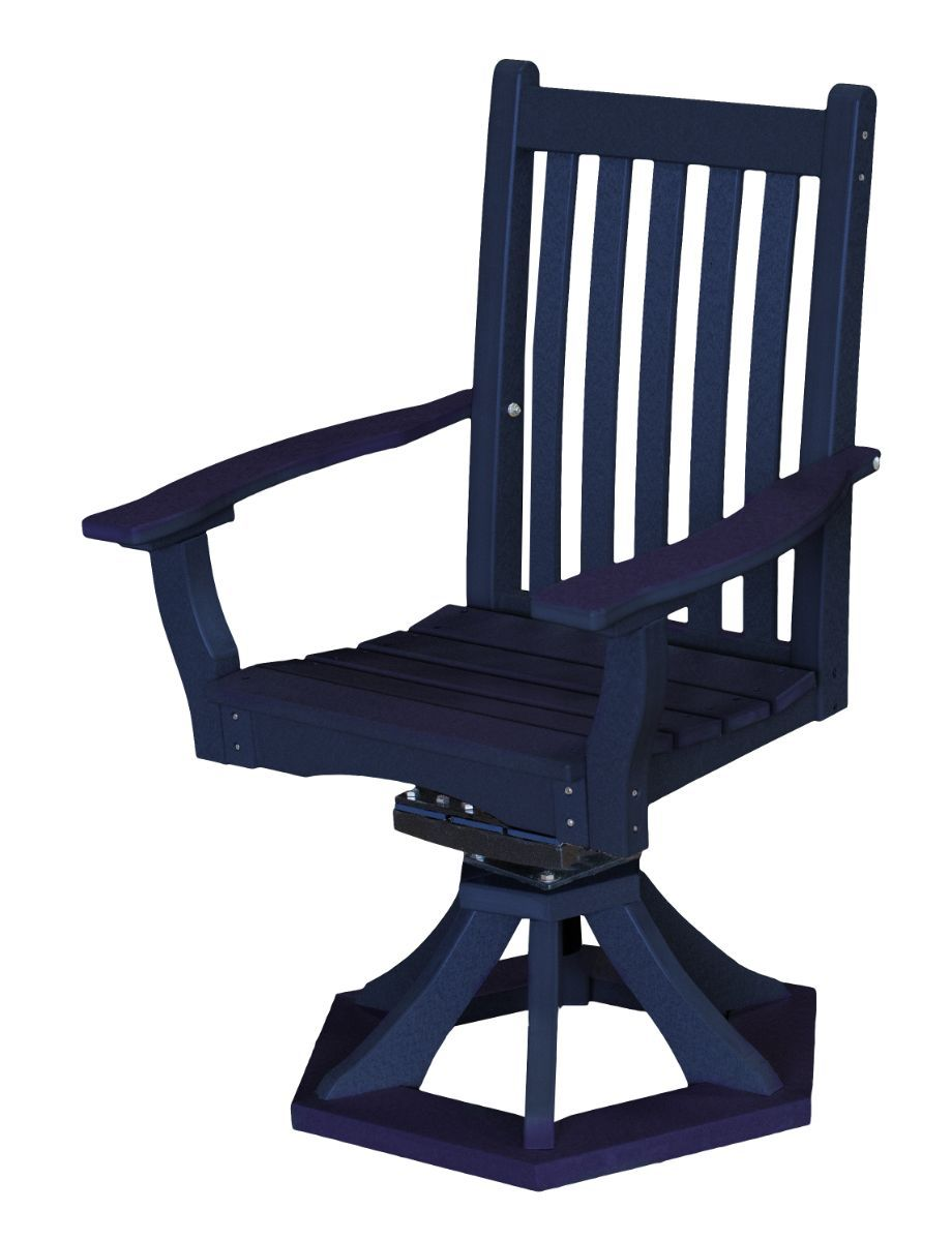 Patriot Blue Aniva Swivel Rocker Chair