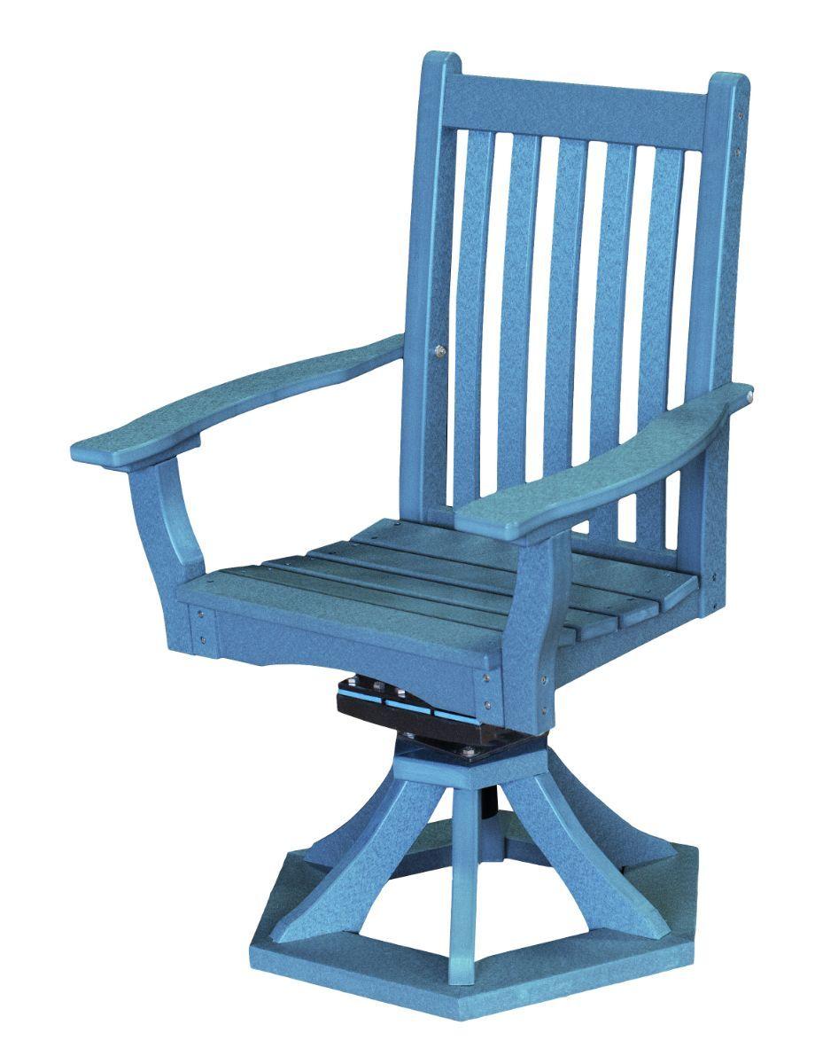 Powder Blue Aniva Swivel Rocker Chair