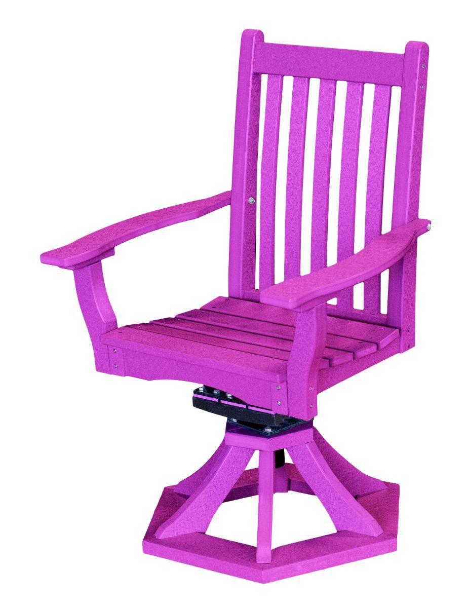 Purple Aniva Swivel Rocker Chair