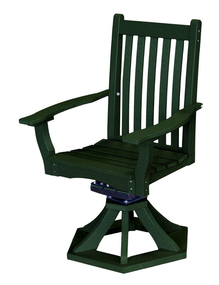 Turf Green Aniva Swivel Rocker Chair