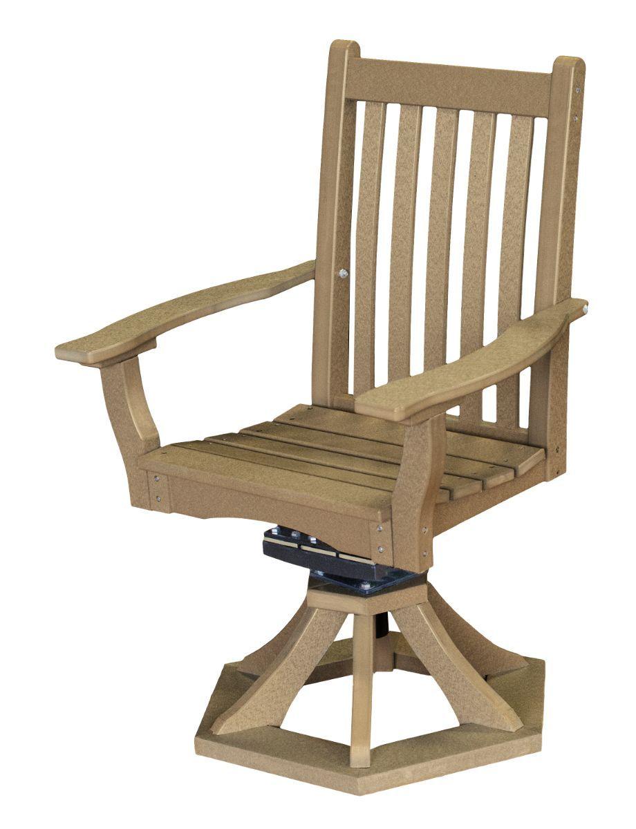 Weathered Wood Aniva Swivel Rocker Chair