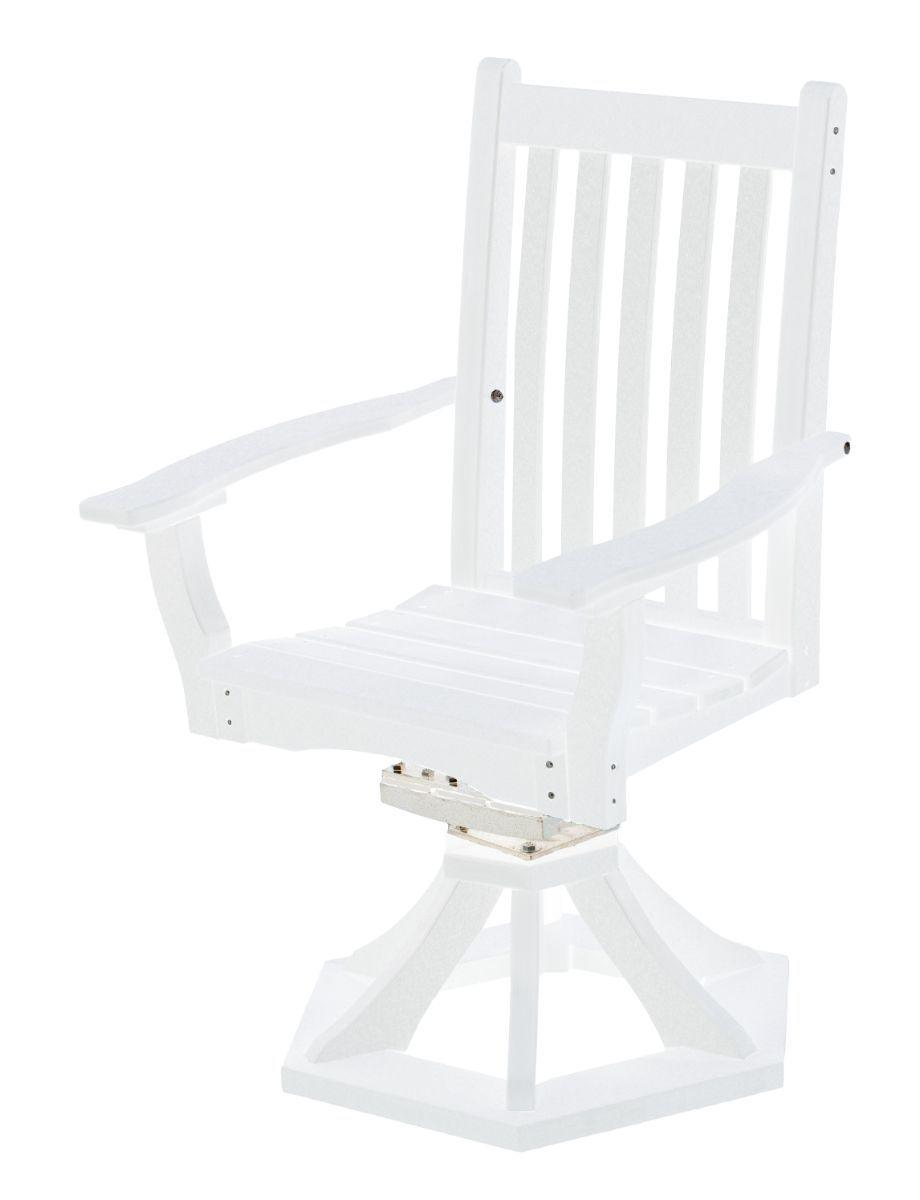 White Aniva Swivel Rocker Chair