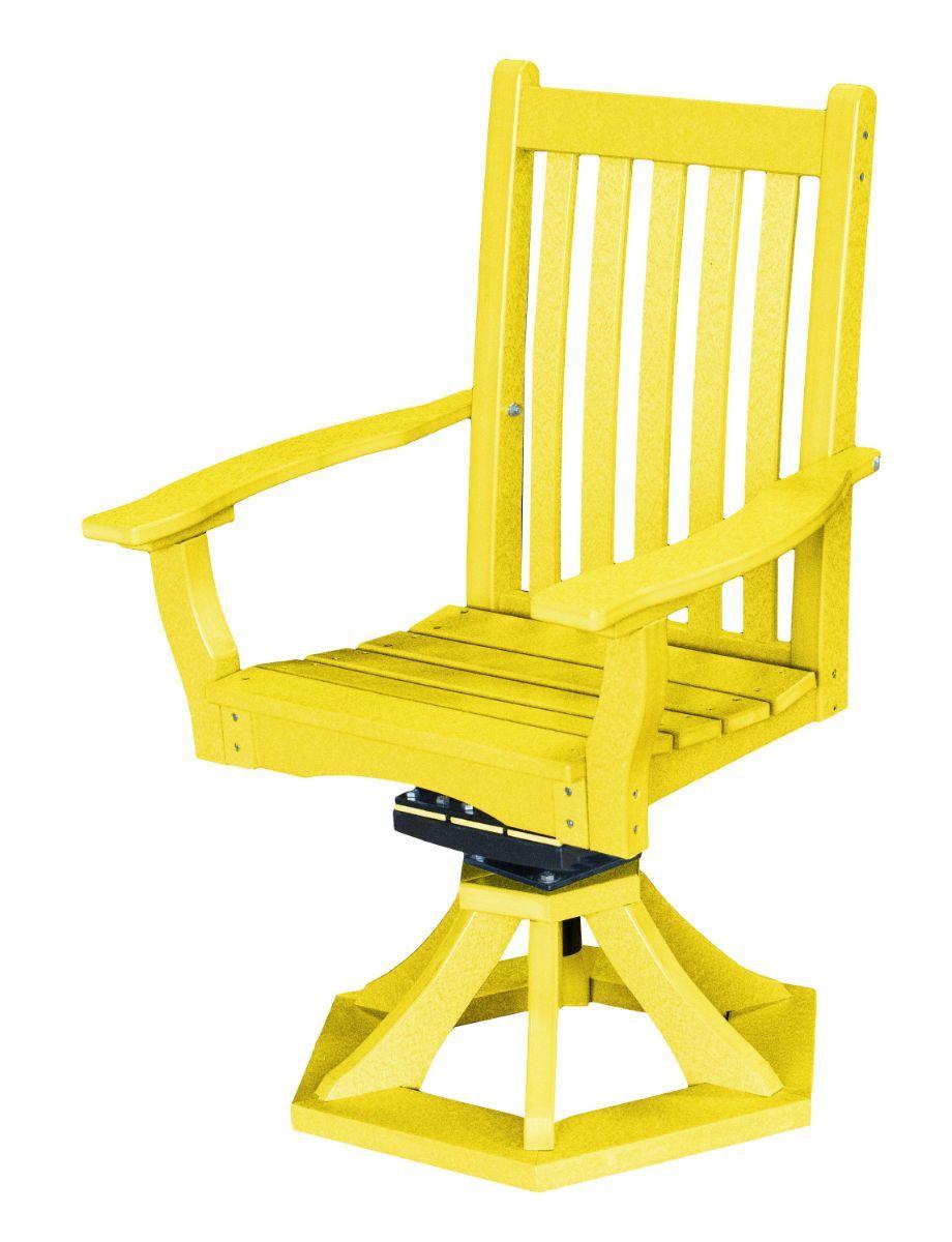 Lemon Yellow Aniva Swivel Rocker Chair
