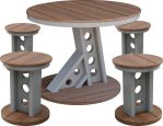 Ash Outdoor Dining Table and Stools