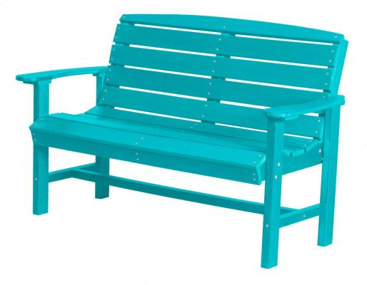 Aruba Blue Green Bay Outdoor Bench