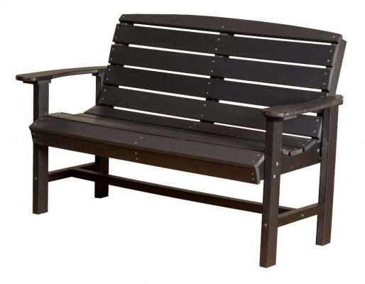 Black Green Bay Outdoor Bench