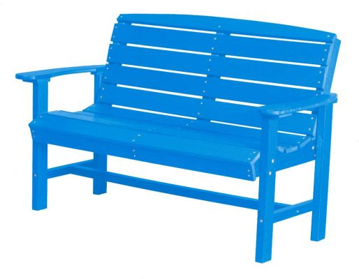 Blue Green Bay Outdoor Bench