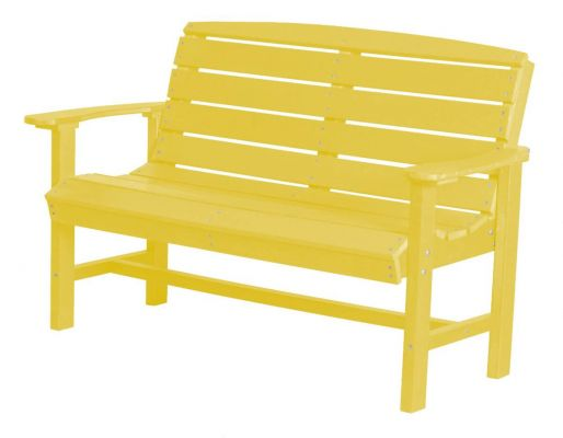 Lemon Yellow Green Bay Outdoor Bench