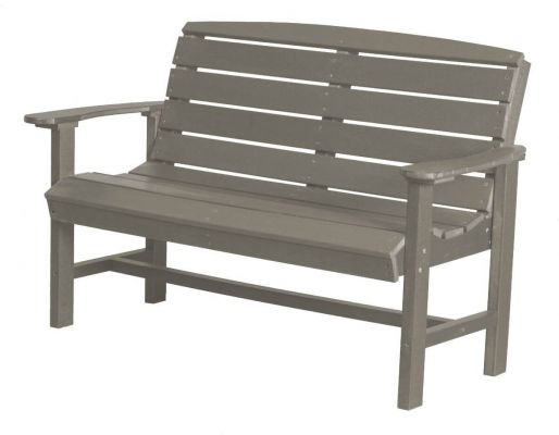 Light Gray Green Bay Outdoor Bench