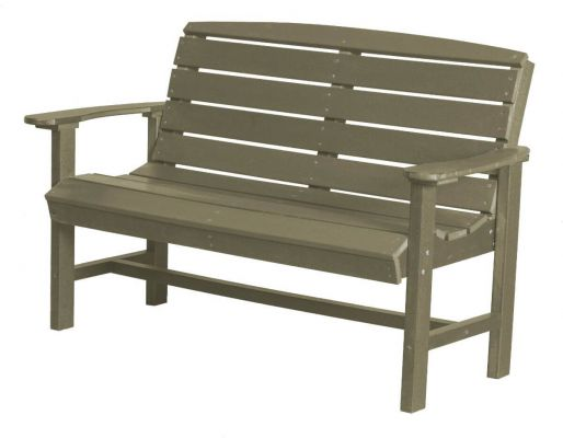 Olive Green Bay Outdoor Bench
