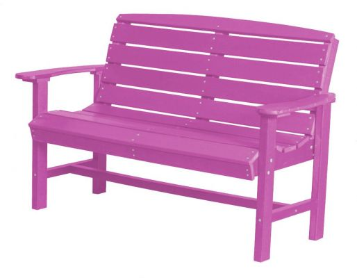 Purple Green Bay Outdoor Bench