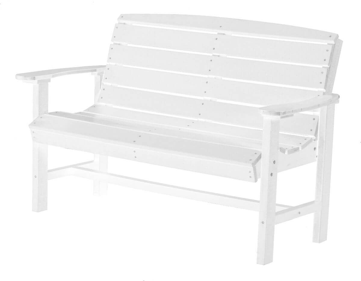 White Green Bay Outdoor Bench