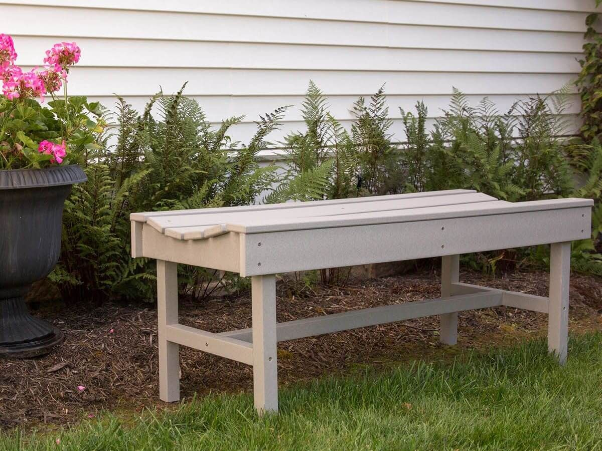Outdoor Poly Lumber Garden Bench