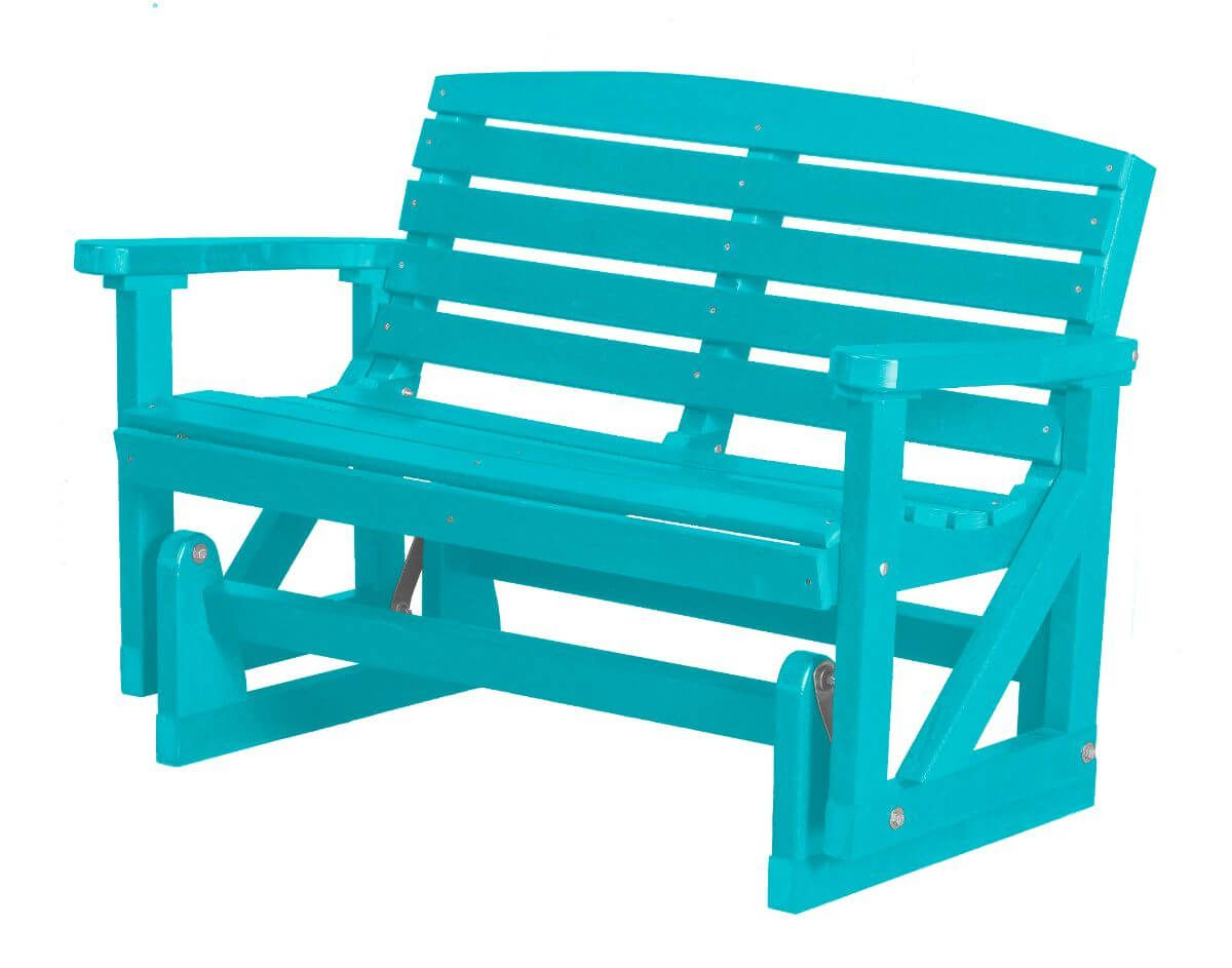 Aruba Blue Green Bay Outdoor Double Glider