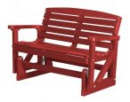 Cardinal Red Green Bay Outdoor Double Glider