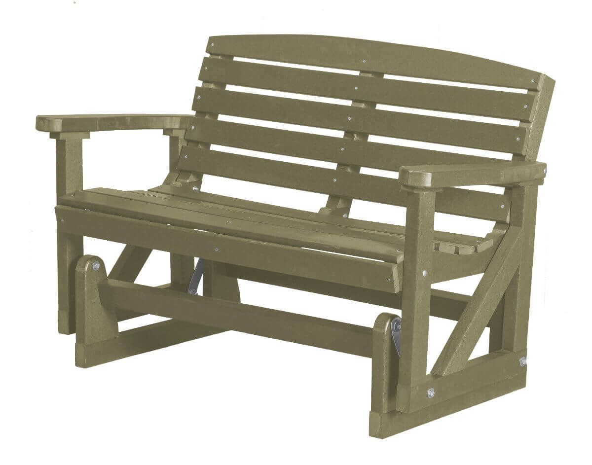 Olive Green Bay Outdoor Double Glider