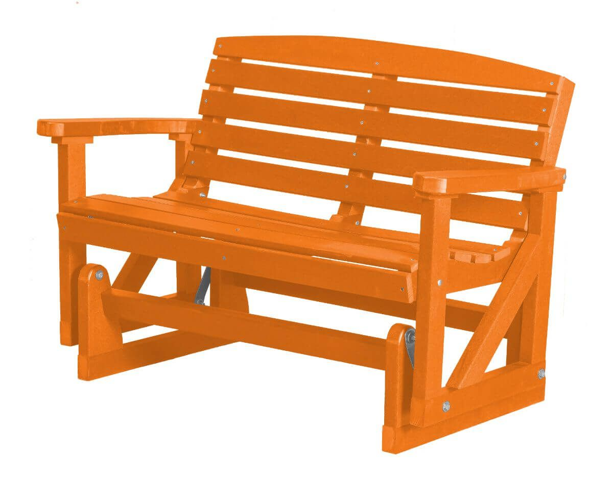 Orange Green Bay Outdoor Double Glider