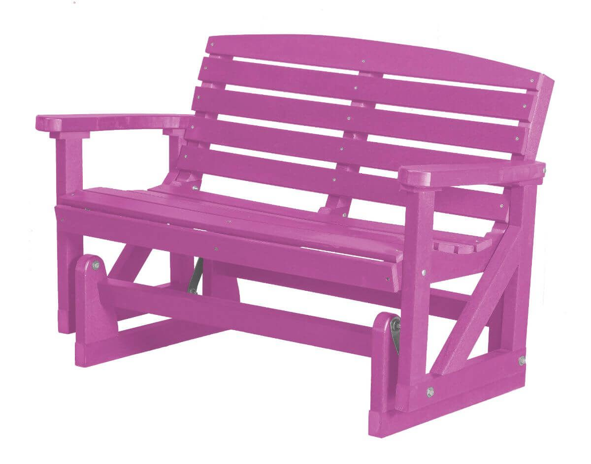 Purple Green Bay Outdoor Double Glider