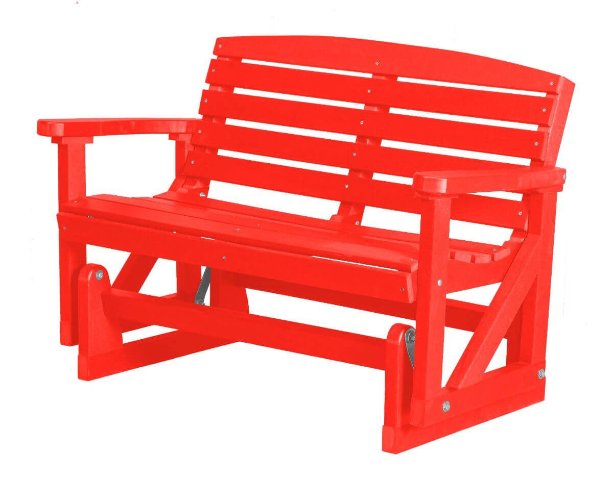 Bright Red Green Bay Outdoor Double Glider