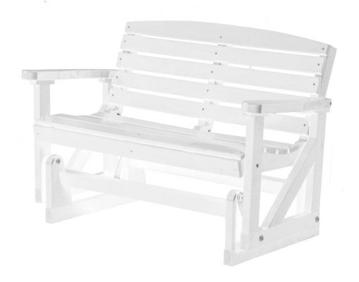 White Green Bay Outdoor Double Glider