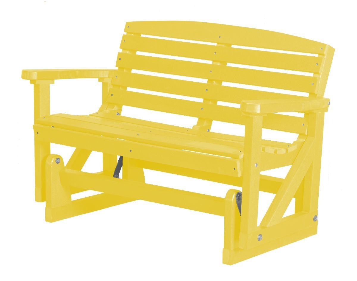 Lemon Yellow Green Bay Outdoor Double Glider