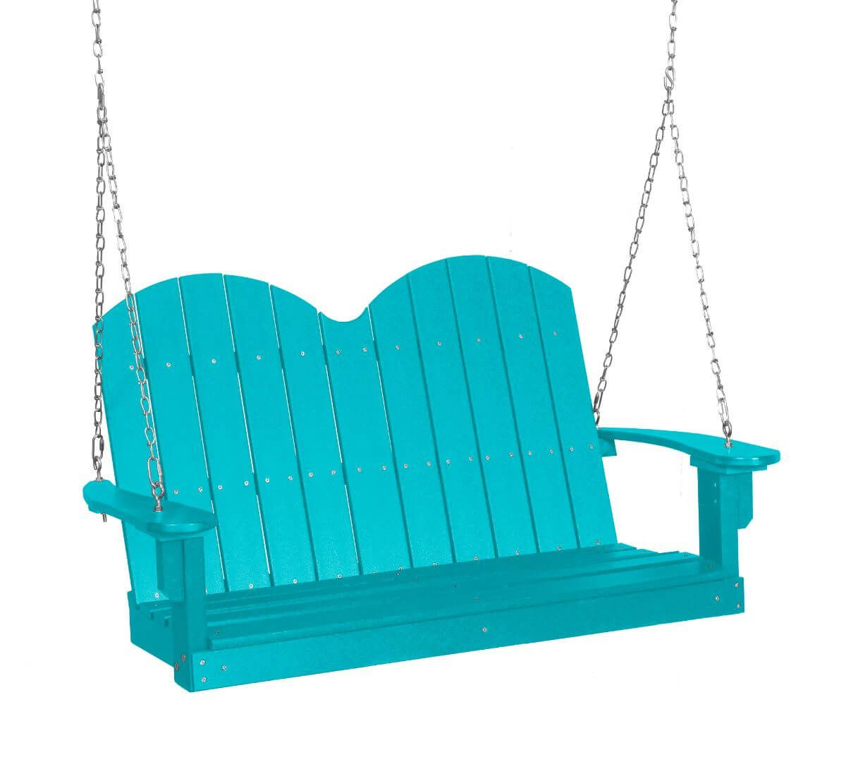 Aruba Blue Green Bay Outdoor Swing