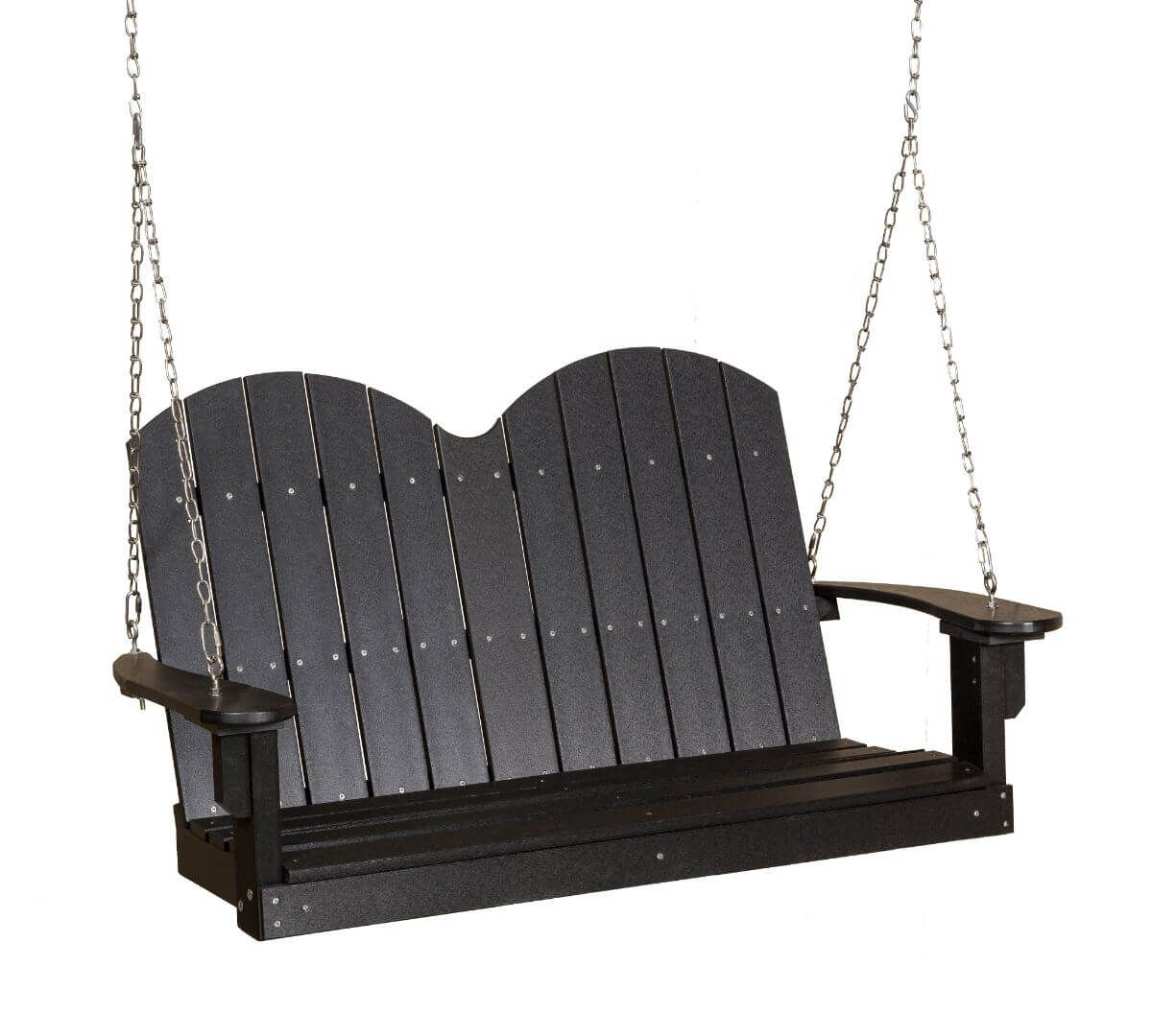Black Green Bay Outdoor Swing