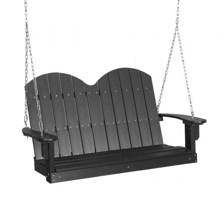 Dark Gray Green Bay Outdoor Swing