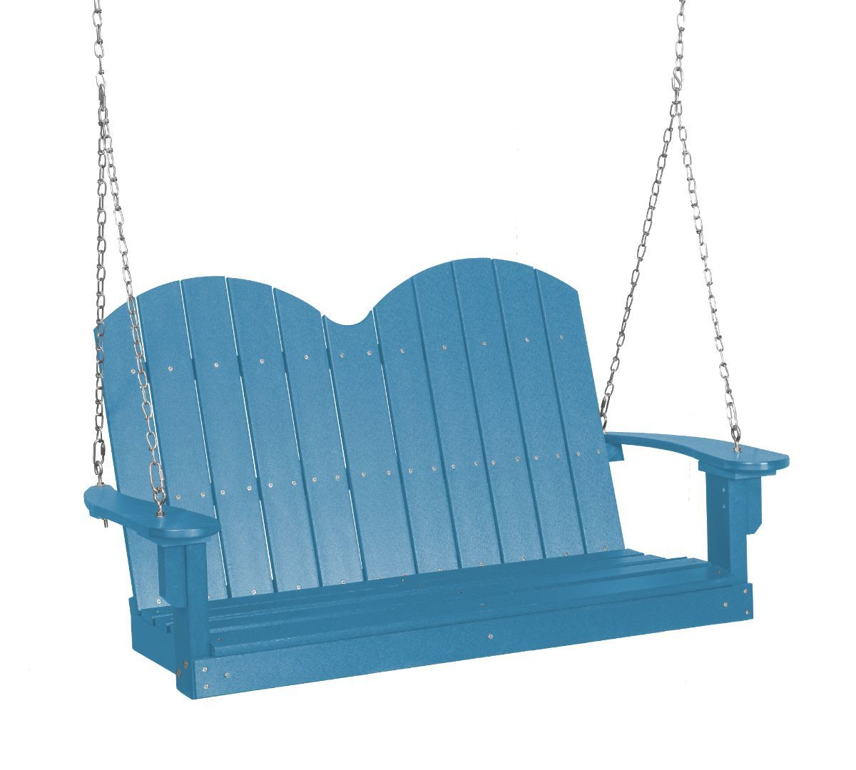 Powder Blue Green Bay Outdoor Swing