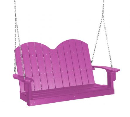 Purple Green Bay Outdoor Swing