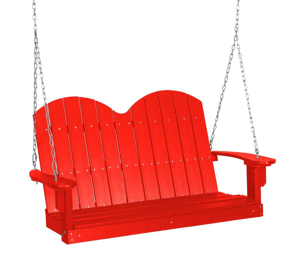 Bright Red Green Bay Outdoor Swing